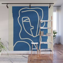 Abstract Minimal Woman Portrait Wall Mural