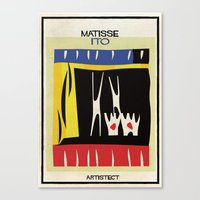 matisse Canvas Prints featuring matisse+ito by federico babina