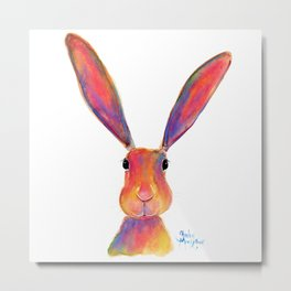 HaPPY HaRe / RaBBiT 'I'M ALL EaRS' by SHiRLeY MacARTHuR Metal Print