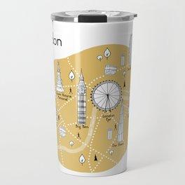 Mapping London - Yellow Travel Mug