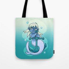 Sharp-toothed Mermaid Tote Bag