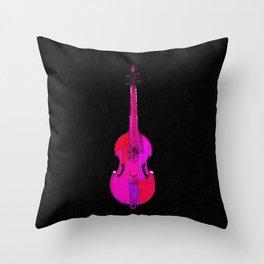 Pink Violin Throw Pillow