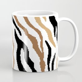 8 bit Zebra stripes pattern. Digital illustration. Coffee Mug