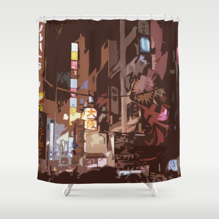 Lost In Japan Shower Curtain By Chanzhu
