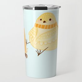 Cozy Canaries-Fireside Canary  Travel Mug