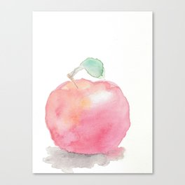 Watercolor Apple Canvas Print