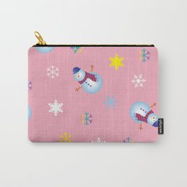 Snowflakes & Snowman_B Carry-All Pouch