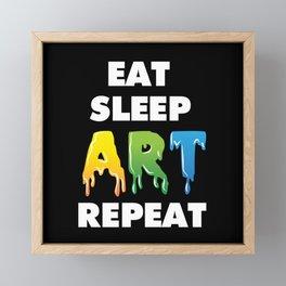 Art Art Teacher Framed Mini Art Print