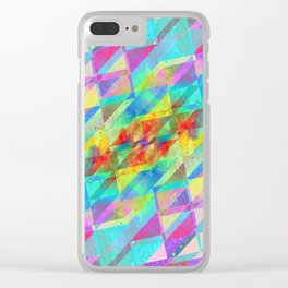MULTICOLORED HAPPY CHAOS Clear iPhone Case