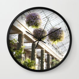 The Conservatory Flowers Wall Clock