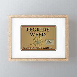 Tegridy Weed From Tegridy Farms Framed Mini Art Print