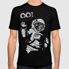 BOO !! Astronaut Skeleton Science Shirts T-shirt