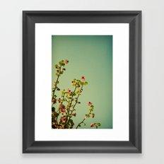 Vintage ribes plant Framed Art Print