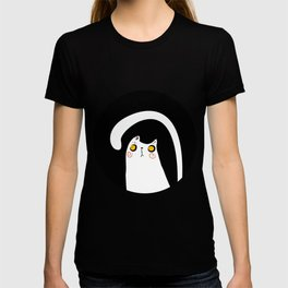 Dark Night White Cat T-shirt