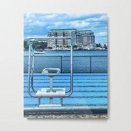 Mirabella Pool Metal Print