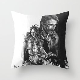The Last Of Us Part II - Ellie and Joel Throw Pillow