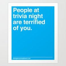 Trivia Night Art Print