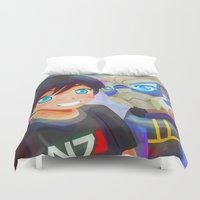 mass effect Duvet Covers featuring Mass Effect - Shakarian Selfie [Commissions] by Choco-Minto