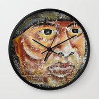 indian Wall Clocks featuring Indian by Lia Bernini