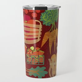 Farmers Market Veggies on Red_Robin Pickens Travel Mug