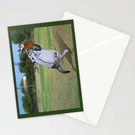 Baseball Catcher Kitten Stationery Cards