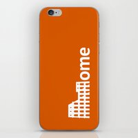rome iPhone & iPod Skins featuring Rome by Flat Design