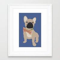 frenchie Framed Art Prints featuring Frenchie by StephyLouPavlik