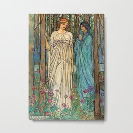 """""""Guinevere"""" Fairy Art by Florence Harrison Metal Print"""