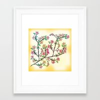 cherry blossoms Framed Art Prints featuring Cherry Blossoms by famenxt