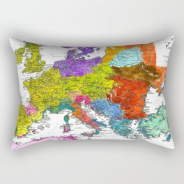 The Peoples of Europe According to Ptolemy Rectangular Pillow