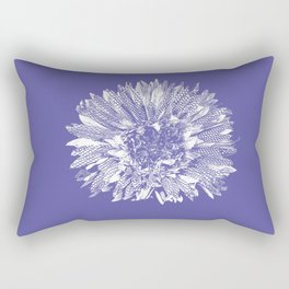 Stamped Wildflower in Lavender Rectangular Pillow