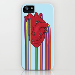 Pride Love Heart with Nails iPhone Case