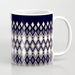 Diamonds in colors of pale rose and sand on dark background Coffee Mug