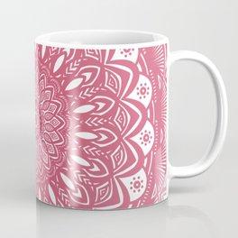 Red Wine Color Mandala Minimal Minimalistic Simple (Yet Bold) Coffee Mug