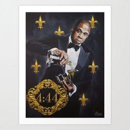 Jay-Z Black Opulence Art Print