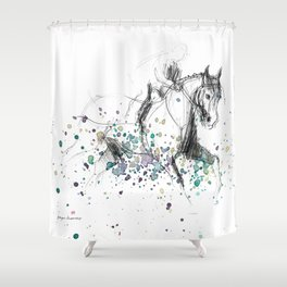 Horse (Rainy canter) Shower Curtain