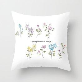 springsummer is coming Throw Pillow