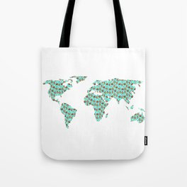 World Map Chocolate Planet Tote Bag