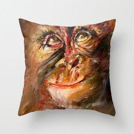 Zodiac - Monkey Throw Pillow