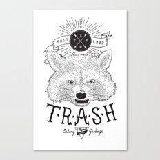 Eating trash Canvas Print