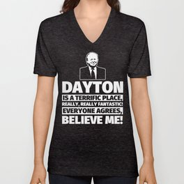 Dayton Funny Gifts - City Humor Unisex V-Neck