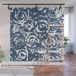 Navy Flower Bundle Wall Mural