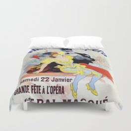 1897 Masquerade ball Paris Opera Duvet Cover