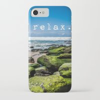 relax iPhone & iPod Cases featuring Relax by Michelle McConnell