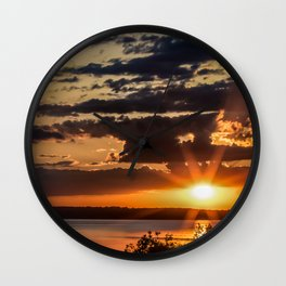 Another Fish Hook Lake sunrise Wall Clock