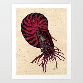 Space Nautilus Art Print