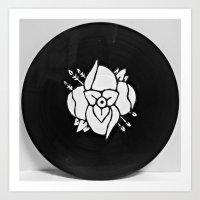 la dispute Art Prints featuring La Dispute On Vinyl by Sarah Hinds