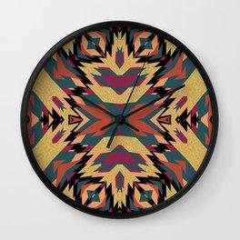 Aztec Winter Pattern Wall Clock