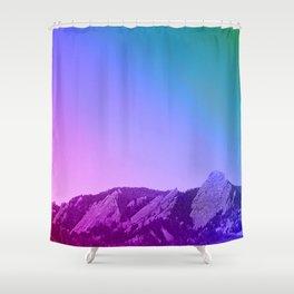 Boulder Colorado Flatirons Decor \\ Chautauqua Park Purple Pink Blue Green Nature Bohemian Style Art Shower Curtain