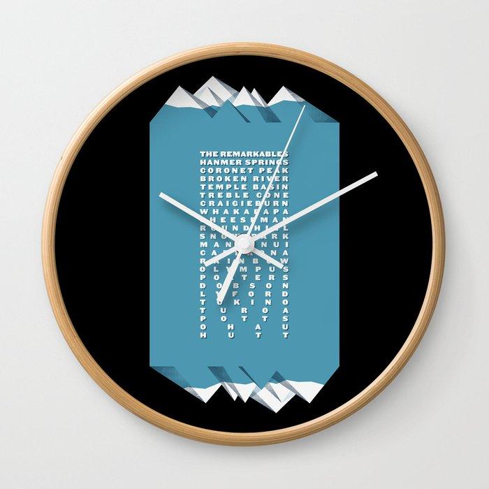 NZ Ski Fields Wall Clock